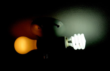 Fluorescent vs. Incandescent Bulbs
