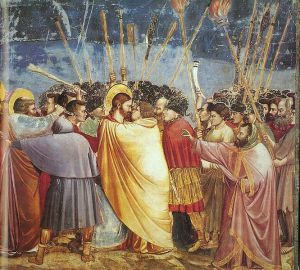 Source: http://commons.wikimedia.org/wiki/File:Giotto_-_Scrovegni_-_-31-_-_Kiss_of_Judas.jpg