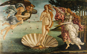 The Birth of Venus by Sandro Botticelli. Source: http://commons.wikimedia.org/wiki/File:Sandro_Botticelli_-_La_nascita_di_Venere_-_Google_Art_Project_-_edited.jpg