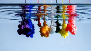 Colored ink in the water. Source: http://www.superbwallpapers.com/photography/ink-flowing-in-the-water-26302/