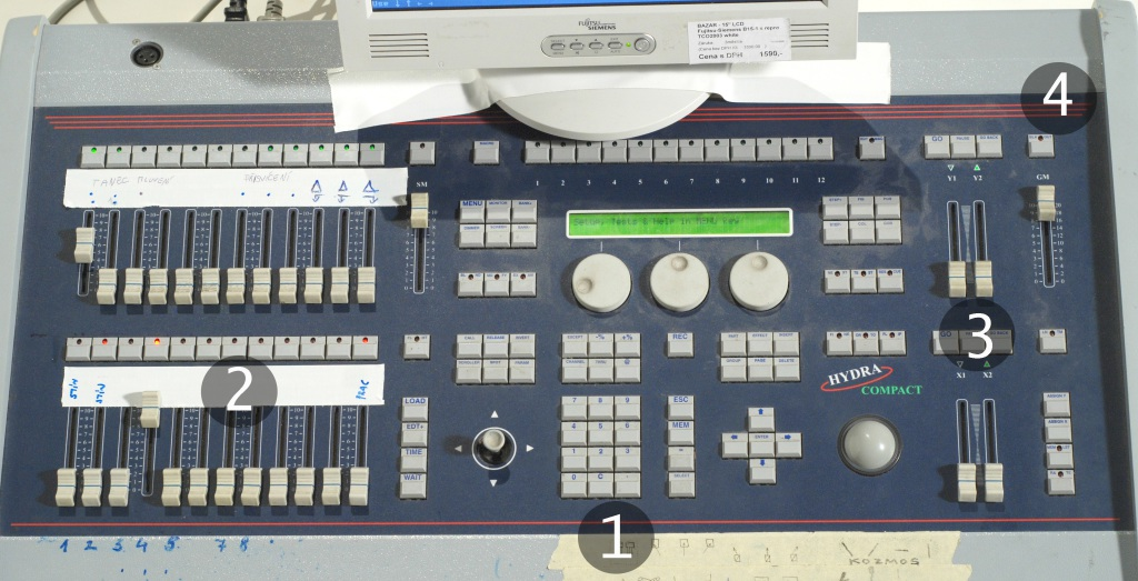 The light control desk Hydra Scan Compact by the manufacturer LT.