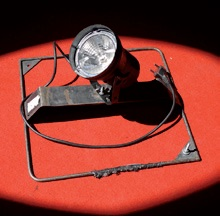 Headlamp of the type PAR36 – a pinspot on a floor tripod