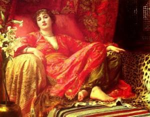 Leila, 1892 by Frank Bernard Dicksee.