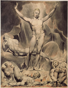 Watercolor Illustration to Milton's Paradise Lost by William Blake