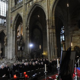 The burial of Václav Havel in the st. Vitus Cathedral