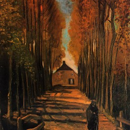 Avenue of Poplars in Autumn by Vincent van Gogh.